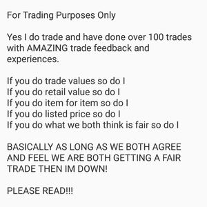 For Trading Purposes Only